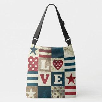 Étoiles et rayures de style d'art populaire de sac ajustable