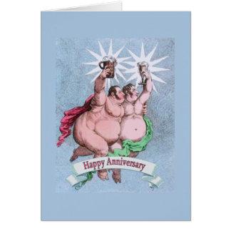 Étoiles heureuses gaies de jumeau d'anniversaire carte de vœux