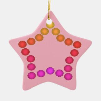 Étoiles mignonnes de rose de décor de Noël de Ornement Étoile En Céramique