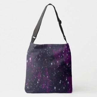 étoiles noires pourpres de ciel nocturne de sac