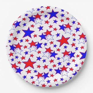 Étoiles patriotiques assiettes en papier