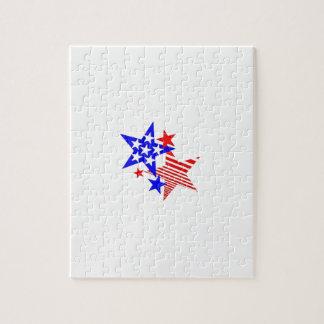 Étoiles patriotiques puzzle