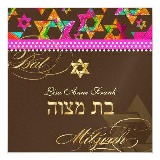 Étoiles psychédéliques de PixDezines, bat mitzvah Carton D'invitation 13,33 Cm