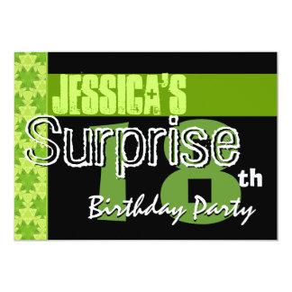 Étonnez le 18ème motif de vert de chaux carton d'invitation  12,7 cm x 17,78 cm