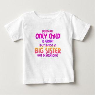 Être un enfant unique est grand, pourpre t-shirt pour bébé