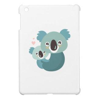 Étreindre doux de mère et de bébé de koala de étui iPad mini