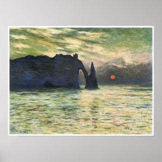 Etretat, coucher du soleil, 1883, Claude Monet
