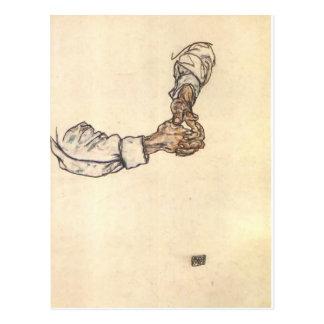 Étude d'Egon Schiele- des mains Carte Postale