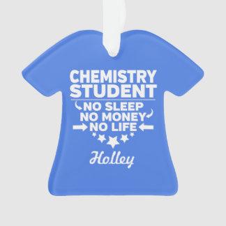 Étudiant de chimie l'aucune vie ou argent