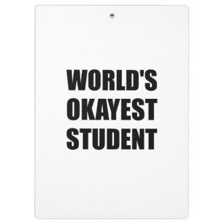 Étudiant d'Okayest des mondes Porte-bloc