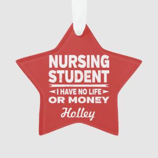 Étudiant universitaire de soins l'aucune vie ou