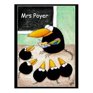 Étudiants mignons drôles Classpostcard de Carte Postale