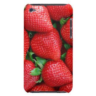 Étui Barely There iPod Conception rouge de motif de fraises