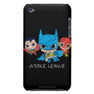 Étui Barely There iPod Mini croquis de ligue de justice
