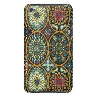 Étui Barely There iPod Patchwork vintage avec les éléments floraux de