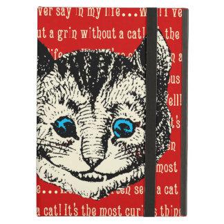 Étui iPad Air Alice vintage chez le chat de Cheshire du pays des
