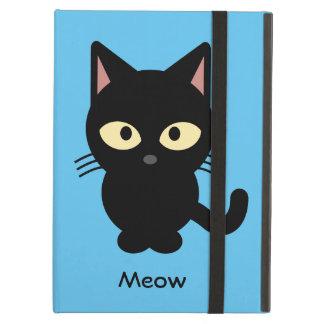 Étui iPad Air Bande dessinée mignonne de meow de chat noir