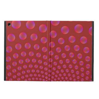 Étui iPad Air Bulles violettes et rouges