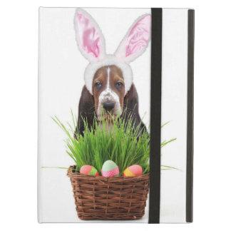 Étui iPad Air Chien de basset de Pâques