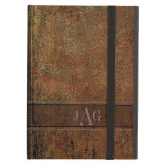 Étui iPad Air Conception grunge rustique de livre de Brown
