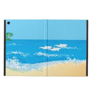 Étui iPad Air Conception pittoresque de dauphin de plage