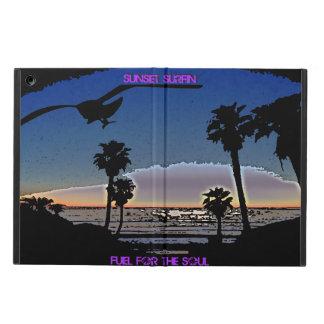 Étui iPad Air Coucher du soleil Surfin - carburant pour l'âme