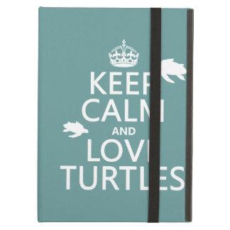 Étui iPad Air Gardez le calme et aimez les tortues