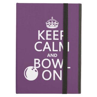 Étui iPad Air Gardez le calme et la cuvette dessus - toutes les