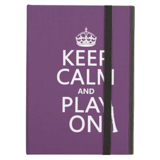Étui iPad Air Gardez le calme et le jeu sur (clarinette) (toute