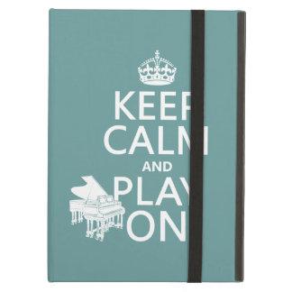 Étui iPad Air Gardez le calme et le jeu sur (piano) (toute