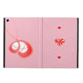 Étui iPad Air Le ballet lace le collier rouge brillant de