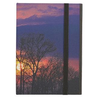 Étui iPad Air Lever de soleil d'aube et art de nature de