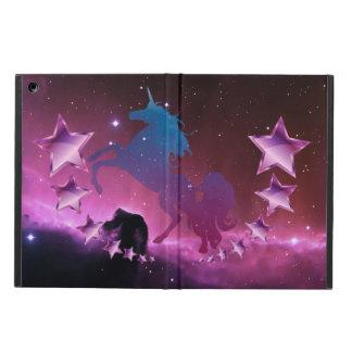 Étui iPad Air Licorne avec des étoiles