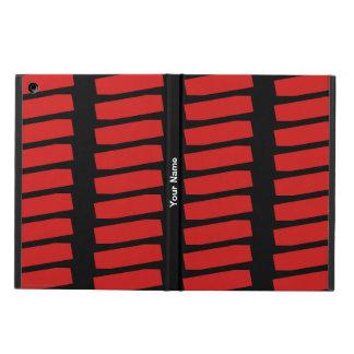Étui iPad Air Motif personnalisé d'abrégé sur rouge sur le noir