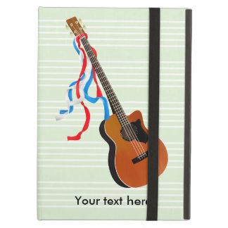 Étui iPad Air Musique acoustique d'Américain de guitare basse