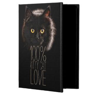 Étui iPad Air Nom d'amoureux des chats de typographie de chat