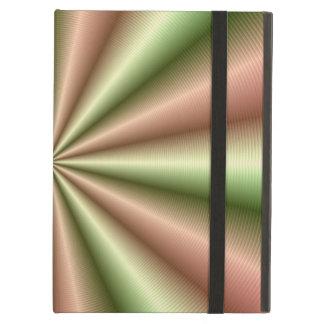 Étui iPad Air Rose et pli nervuré par vert