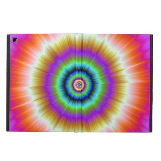 Étui iPad Air Teignez en nouant en rouge et vert violets
