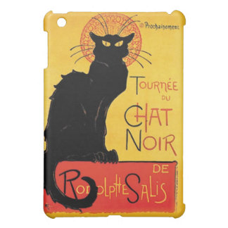 Étui iPad Mini Art Nouveau de chat noir de cabaret de French Le