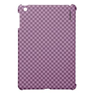 Étui iPad Mini Cas   dur de HAMbyWG - guingan de prune