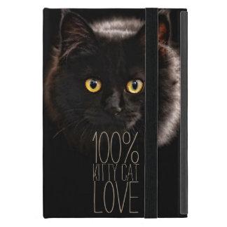 Étui iPad Mini Chat noir et amoureux des chats de nom