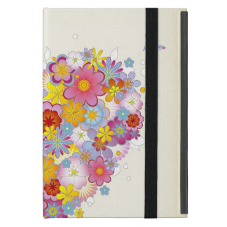 Étui iPad Mini Coeur floral avec des papillons