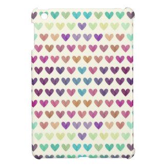 Étui iPad Mini Coeurs mignons colorés IV