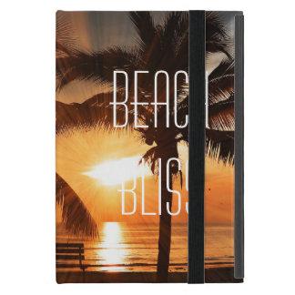 Étui iPad Mini Coucher du soleil tropical et palmier de bonheur