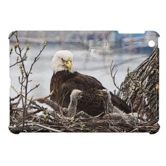 Étui iPad Mini Eagle chauve avec des aiglons