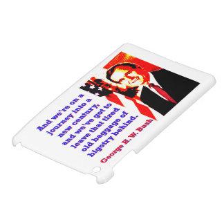 Étui iPad Mini Et nous sommes sur un voyage - George H W Bush