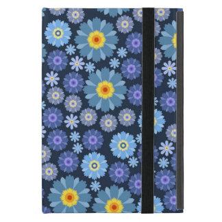 Étui iPad Mini Fleur dans le bleu