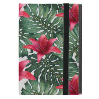 Étui iPad Mini Hawaïen tropical adorable Hibiskus de paume