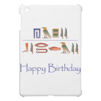 Étui iPad Mini Hiéroglyphes d'Egyptien de joyeux anniversaire