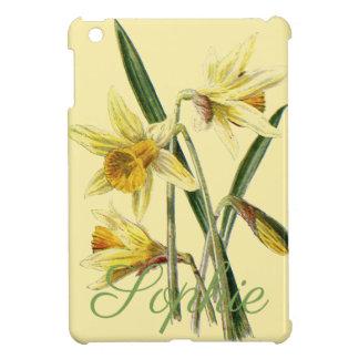 Étui iPad Mini Jonquilles vintages/victoriennes Personnalised
